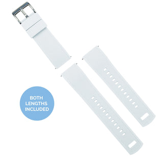 Load image into Gallery viewer, White Top / Black Bottom | Elite Silicone - Barton Watch Bands