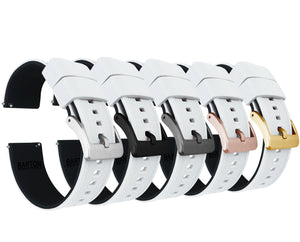 White Top / Black Bottom | Elite Silicone - Barton Watch Bands