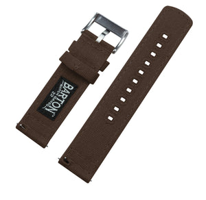 Withings Nokia Activité and Steel HR | Chocolate Brown Canvas Withings Watch Band Barton Watch Bands