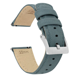 Withings Nokia Activité and Steel HR | Sailcloth Quick Release | Slate Grey - Barton Watch Bands