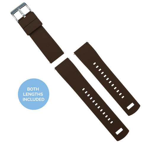 Zenwatch & Zenwatch 2 | Elite Silicone | Brown Top / Khaki Bottom Zenwatch Watch Band Barton Watch Bands
