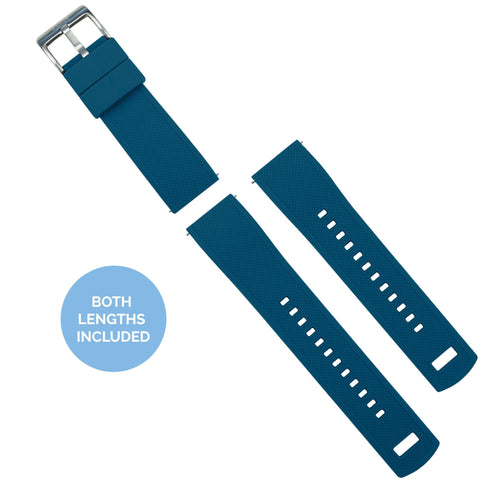 Zenwatch & Zenwatch 2 | Elite Silicone | Flatwater Blue Zenwatch Watch Band Barton Watch Bands