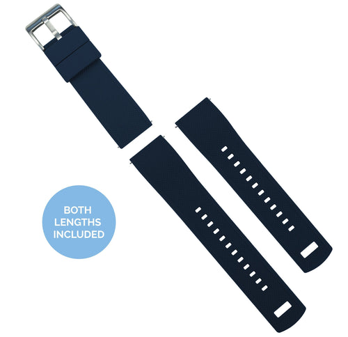 Zenwatch & Zenwatch 2 | Elite Silicone | Navy Blue Zenwatch Watch Band Barton Watch Bands