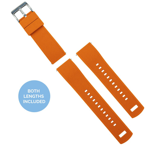 Zenwatch & Zenwatch 2 | Elite Silicone | Pumpkin Orange Top / Black Bottom Zenwatch Watch Band Barton Watch Bands