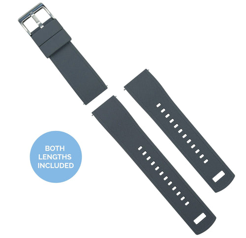 Zenwatch & Zenwatch 2 | Elite Silicone | Smoke Grey Top / Mint Green Bottom Zenwatch Watch Band Barton Watch Bands