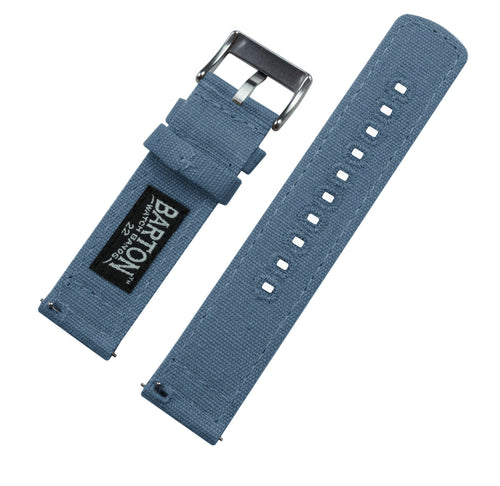 Zenwatch & Zenwatch 2 | Nantucket Blue Canvas Zenwatch Watch Band Barton Watch Bands