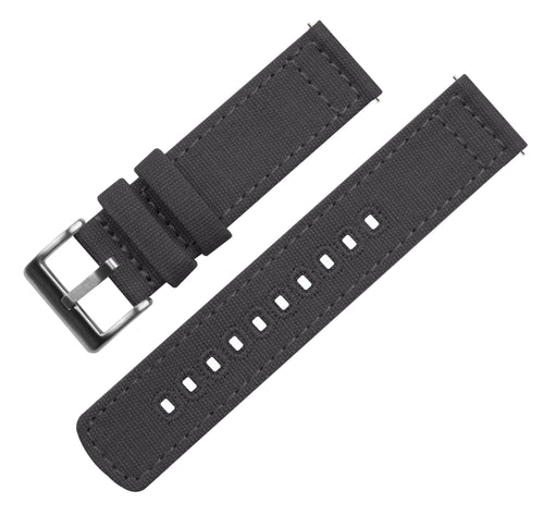 Zenwatch & Zenwatch 2 | Smoke Grey Canvas Zenwatch Watch Band Barton Watch Bands