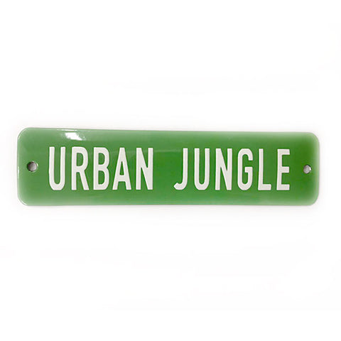 Placa Decorativa Esmaltada Urban Jungle