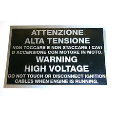 'Warning High Voltage' Sticker