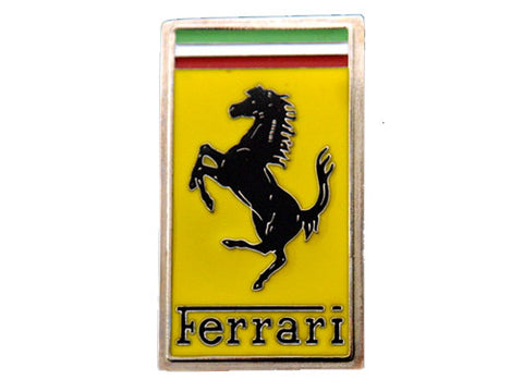 Ferrari Oblong Front Nose Badge Enamel
