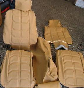 Ferrari 308 Seats, Center Console Leather Interior Set Beige