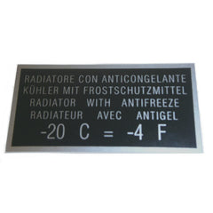 'Radiator with Antifreeze' Sticker