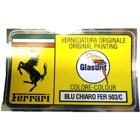 Paint Code Sticker BLU CHIARO FER 503/C