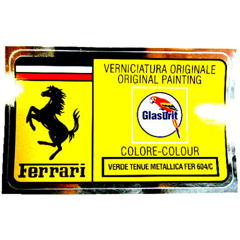 Paint Code Sticker VERDE TENUE METALLICA FER 604/C