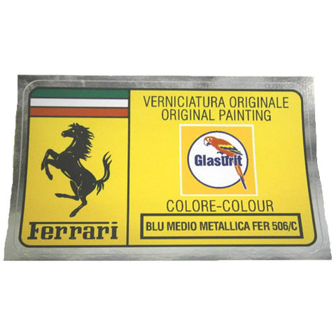 Paint Code Sticker BLU MEDIO METALLICA FER 506/C