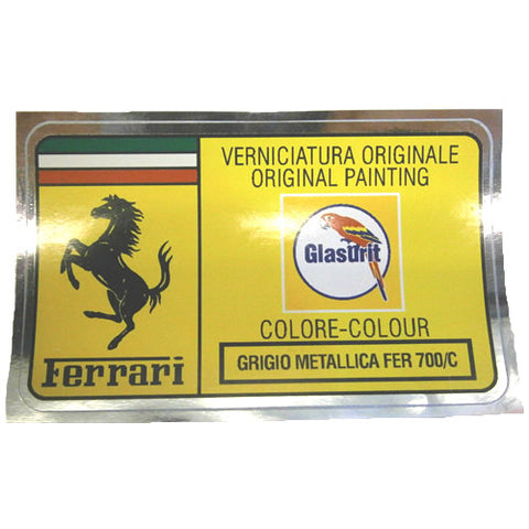 Paint Code Sticker GRIGIO METALLICA FER 700/C