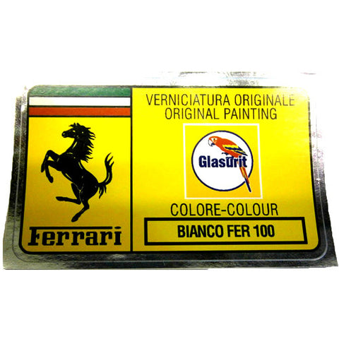 Paint Code Sticker BIANCO FER 100