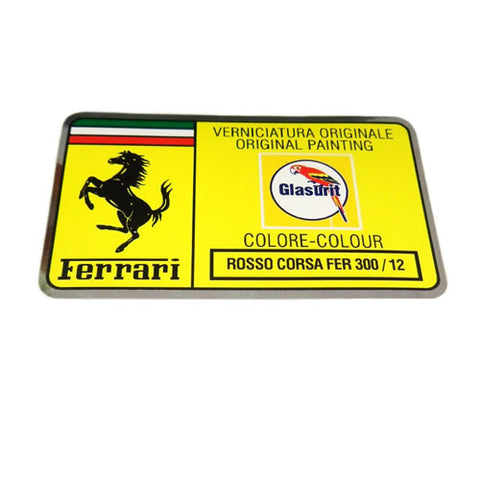Paint Code Sticker ROSSO CORSA FER 300/12