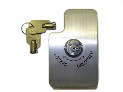 Shift Gate  Lock, clear anodised