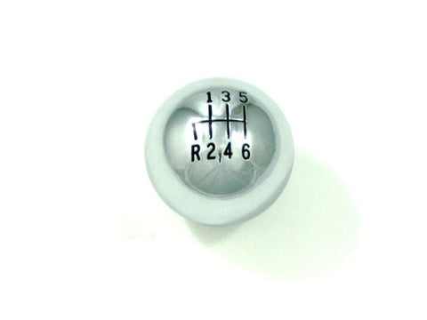 6Speed Gear Knob  with Black Infill, 47mm