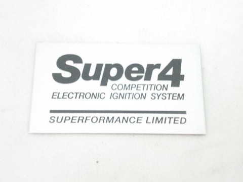 Super 4 Ignition Replacement Label SF4LABEL