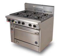 800 Series Fan Forced Gas Oven- 4 Burner Oven with Larger Oven