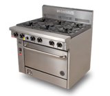 "800 Series High Speed Convection Oven Gas Range | 2 Burner Oven with 24"" Griddle"