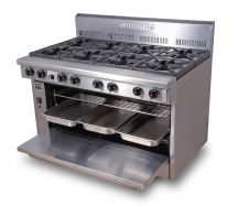 6 Burner Gas/Electric Range PFC-12G-6-40E