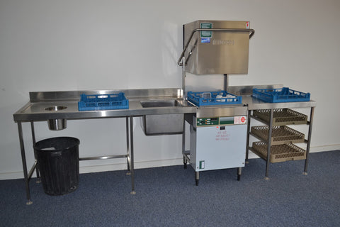 Stainless Steel Benches with Sinks