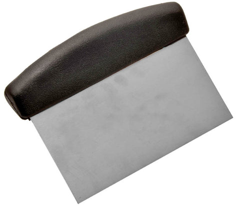 Scraper Dough Black Plastic 150 x 75mm