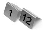 Table Numbers- Stainless Steel 'A' Frame