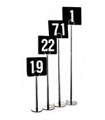 Table Numbers- White on Black