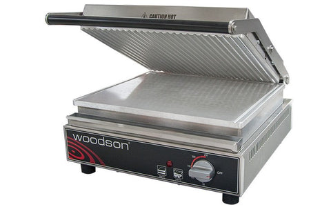 Contact Grill- Ribbed Aluminium Top Plate 6-8 Slice Capacity