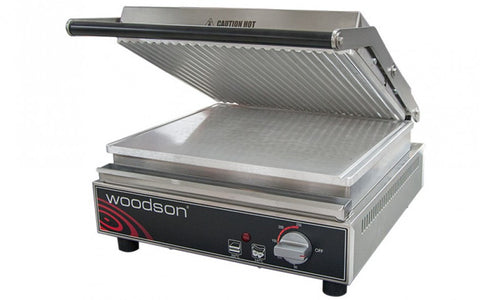 Contact Grill- Ribbed Aluminium Top Plate 4-6 Slice Capacity