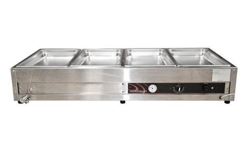 Woodson W.BMA24 2 row 4 bay Large Bain Marie
