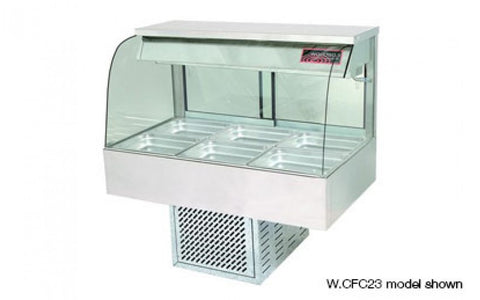 Woodson W.CFC23 3 Module Curved Glass Cold Food Display