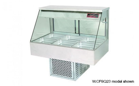 Woodson W.CFS23 3 Module Straight Glass Cold Food Display