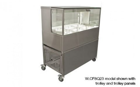 Woodson W.CFSQ24 4 Module Square Glass Cold Food Display