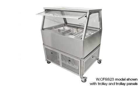 Woodson W.CFSS23 3 Module Self Serve Cold Food Display