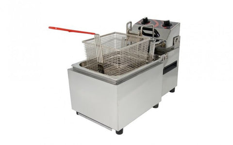 Single Pan Deep Fryer 8Lt with Timer and Auto Lift