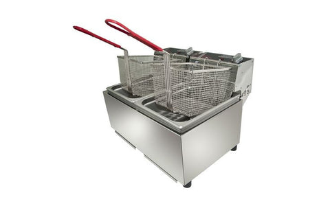 Twin Pan Fryer 16Lt