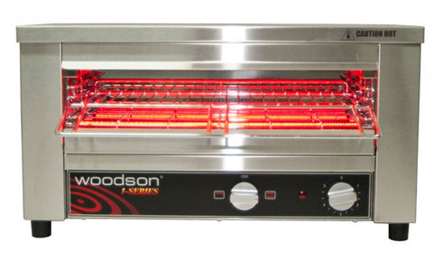 Woodson W.GTQI.4 Multi-Function 4 Slice Glass Element Toaster Griller