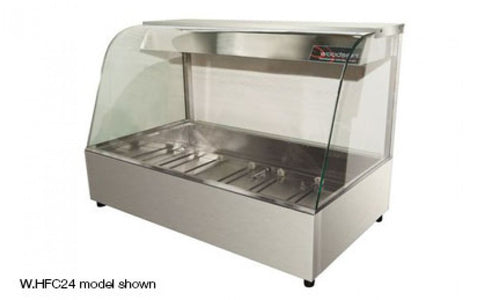 Woodson W.HFC22 2 Module Curved Glass Hot Food Display
