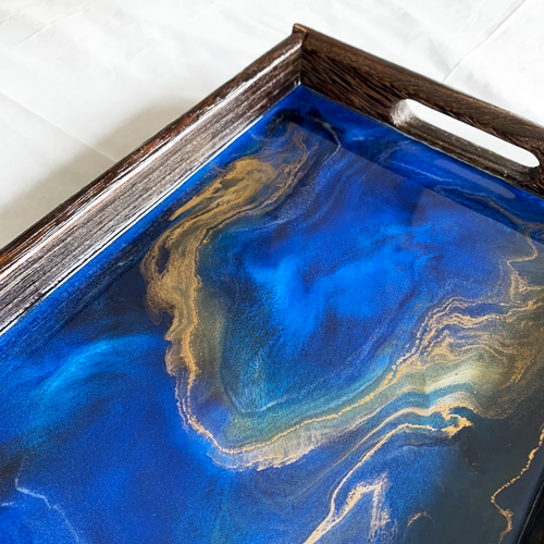 'The Adria' Handcrafted Resin Tray