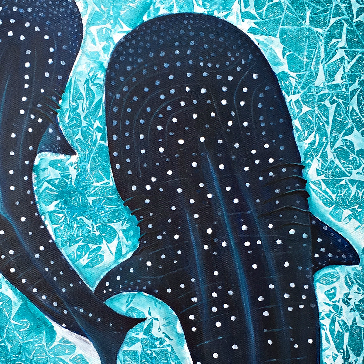 'Fehu'rihi' Whale Shark Original Painting