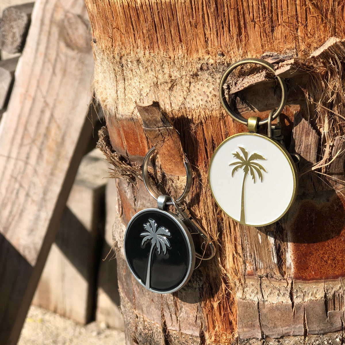 Coconut Palm Keychain