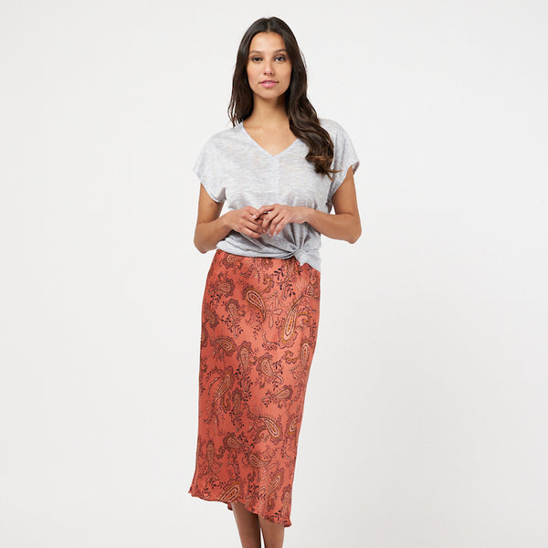 Rust Paisley Skirt