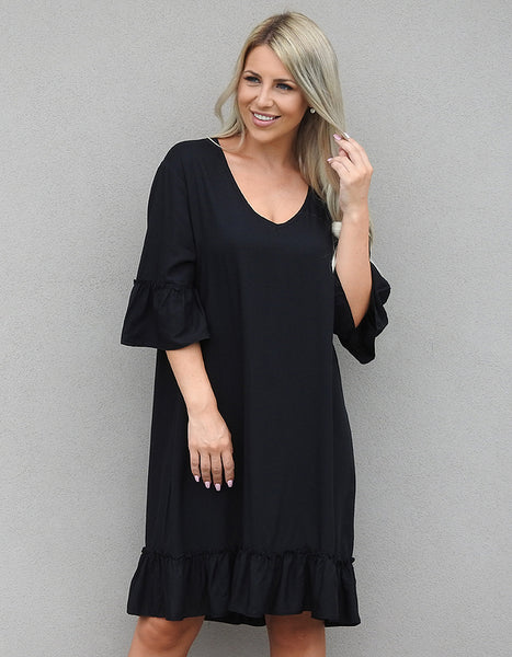 Frill Shift Dress
