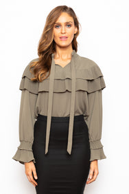 Something Blue Blouse Olive