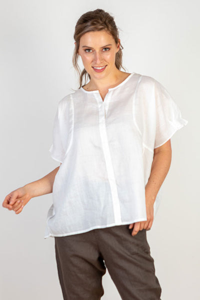 Linen White Cool Summer Top